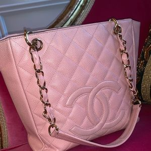 Chanel Pink Caviar Medallion Tote
